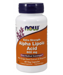 Alpha Lipoic Acid, Extra Strength 600 mg 60 Veg Capsules