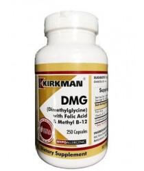 DMG (Dimethylglycine) w/Folic Acid & B-12 Capsules - Hypo 250 ct