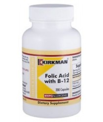 Folic Acid w/B-12 Capsules - Hypo 200 ct