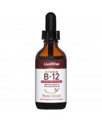 VITAMIN B12 LIQUID DROPS - BIO ACTIVE BLEND - 2oz
