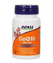 CoQ10 100 mg with Hawthorn Berry 30 Veg Capsules