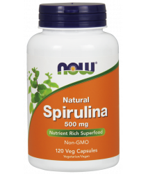 Natural Spirulina 500 mg Veg Capsules