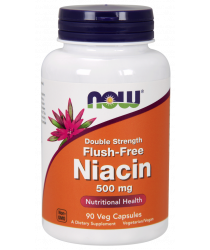 Niacin 500 mg, Double Strength Flush-Free 180 Veg Capsules
