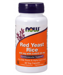 Red Yeast Rice 600 mg with CoQ10 30 mg 120 Veg Capsules