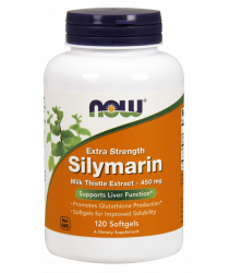 Silymarin Milk Thistle Extract, Extra Strength 450 mg Softgels