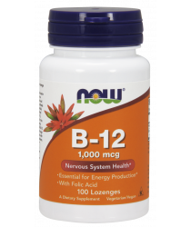 Vitamin B-12 (1000 mcg) with Folic Acid 100 Chewable Lozenges