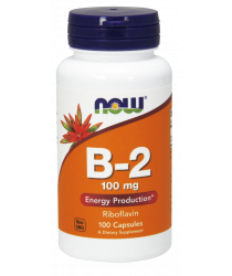Vitamin B-2 (Riboflavin) 100 mg Capsules
