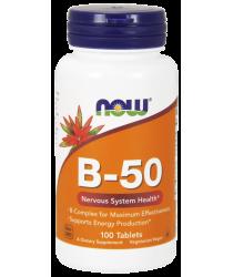 Vitamin B-50 100 Tablets