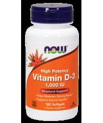 Vitamin D-3 1,000 IU 180 Softgels