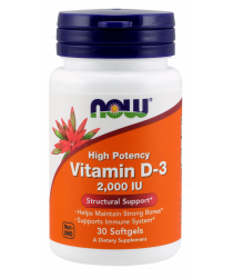 Vitamin D-3 2,000 IU 30 Softgels