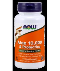 Aloe 10,000 & Probiotics Veg Capsules