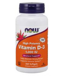 Vitamin D-3 1,000 IU 360 Softgels
