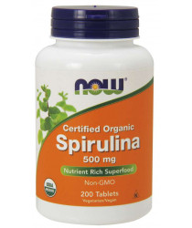 Spirulina 500 mg 200 Tablets, Organic