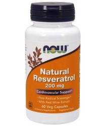Natural Resveratrol 200mg Veg Capsule