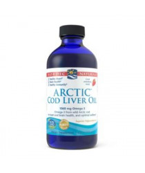 Nordic Naturals Arctic Cod Liver Oil Liquid - STRAWBERRY Flavor 8 oz