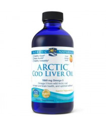 Nordic Naturals® Arctic Cod Liver Oil Liquid - Orange Flavor 8 oz