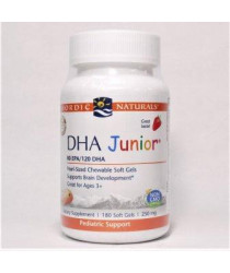 Nordic Naturals® DHA™ Junior - Strawberry - Gel Capsules 180 ct
