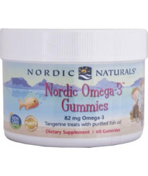 Nordic Naturals® Nordic™ Omega-3 Gummies - Tangerine Flavored 60 ct