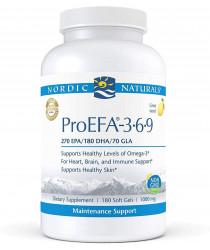 Nordic Naturals ProEFA 3-6-9 - Fish Oil - 180 Softgels