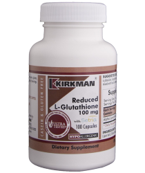 Reduced L-Glutathione 100 mg Capsules - Hypo 100 ct  - Kirkman