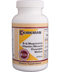 B-6/Magnesium Vitamin/Mineral Chewable Wafer 120 ct