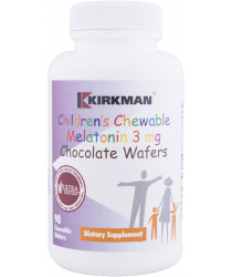 Children's Chewable Melatonin 3 mg Chocolate Wafers