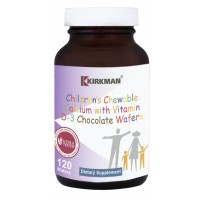 Children's Chewable Calcium with Vitamin D-3 Chocolate Wafers 120 ct