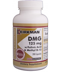 DMG (Dimethylglycine) w/Folinic Acid & B-12 Capsules - Hypo 200 ct - Kirkman