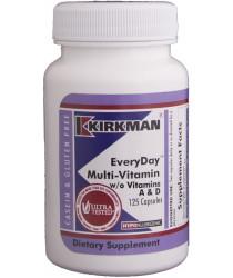 EveryDay™ Multi-Vitamin w/o Vitamins A & D Capsules - Hypo 125 ct