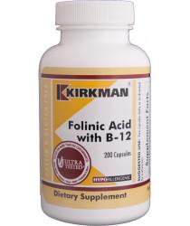 Folinic Acid with B-12 Capsules - Hypoallergenic