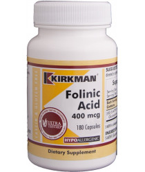 Folinic Acid 400 mcg Capsules - Hypo 180 ct