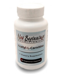 Acetyl L Carnitine 500 mg (60 capsules) - New Beginnings