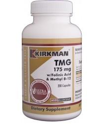 TMG (Trimethylglycine) w/Folic Acid & B-12 Capsules - Hypo 250 ct