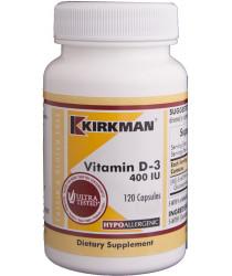 Vitamin D-3 400 IU Capsules - Hypo 120 ct